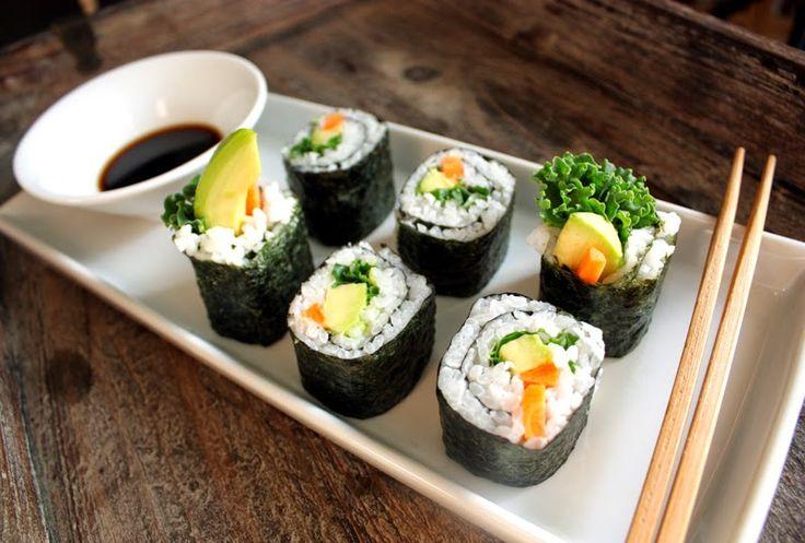 Oppskrift Vegan Vegetar Vegansk Sushi Maki Grønnkål