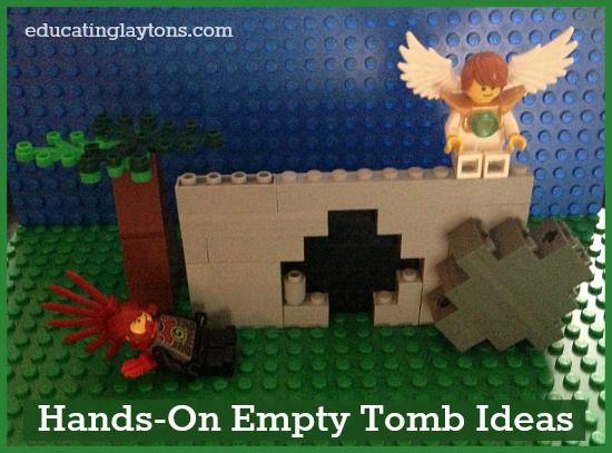 Hands-On Empty Tomb Ideas for tactile learners and lego fans.