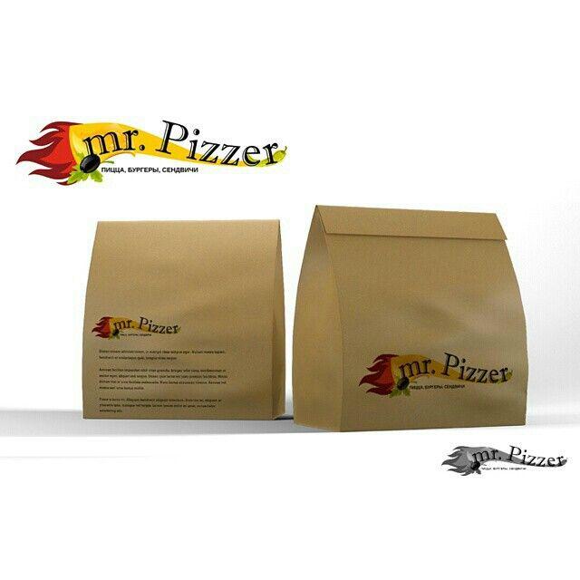 Logotype #ivakaevadesign Логотип быстрая доставка пиццы и пакет под сендвич-сет. Фриланс