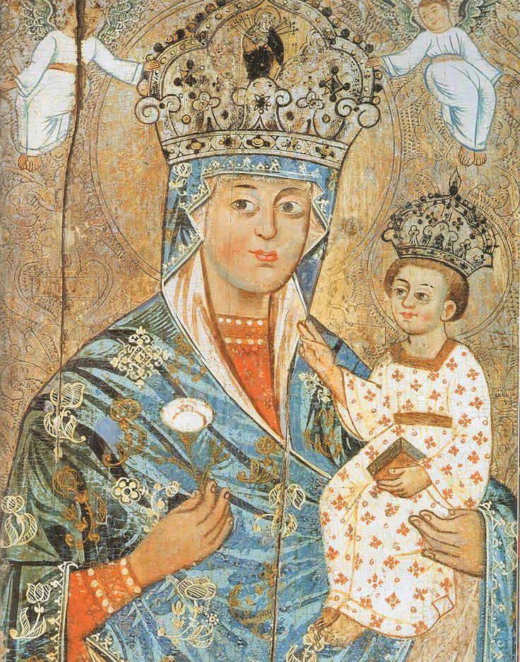 La Virgen Hodegetria de Buchach (ahora en el Museo Nacional de Arte, Kiev), del siglo 17