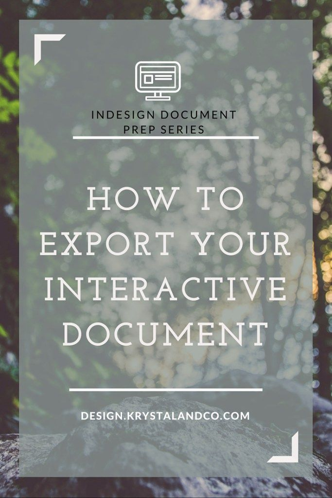 Interactive Document PDF Export