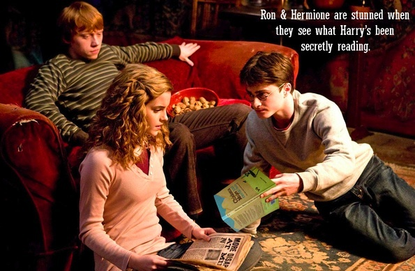 Harry Potter reading 'Chickens'. (From Paul Hamilton)