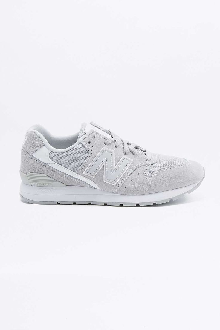 New Balance 996 Grey+White Trainers