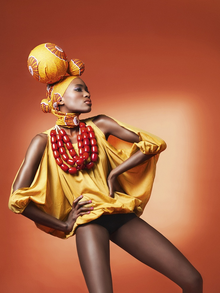 Cold Shoulder Blouse with seShwe-shwe headpiece
