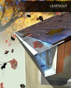 "Amazon.com: LeafsOut 5"" DIY 100 Feet Micro Mesh Rain Gutter Guard. Install it yourself Gutter Screen Cover System: Home Improvement"
