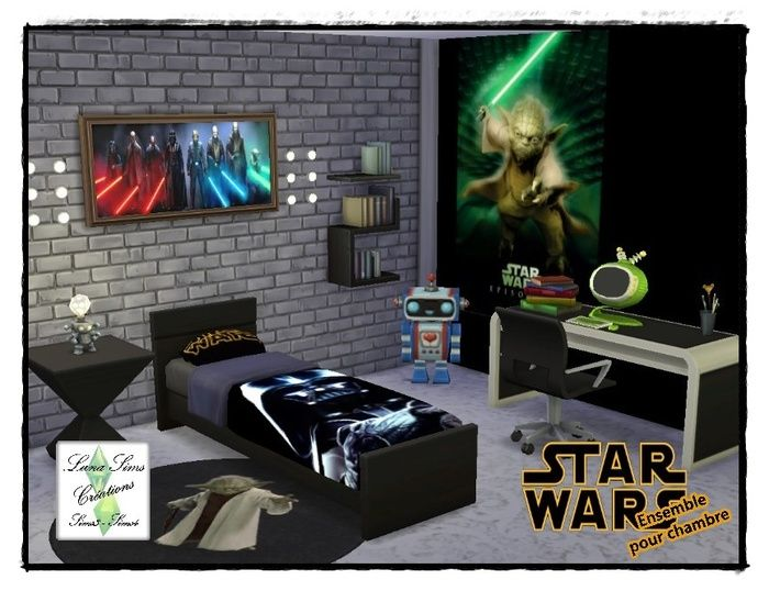 les 25 meilleures id es de la cat gorie chambre star wars. Black Bedroom Furniture Sets. Home Design Ideas
