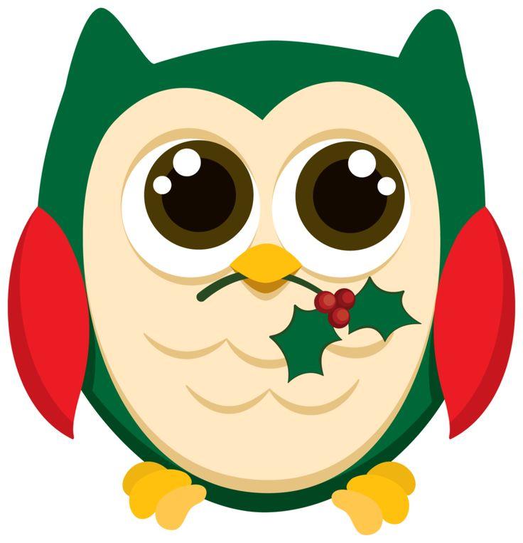 christmas owls minus arte con buhos pinterest Christmas Owl Clip Art Black and White Merry Christmas Clip Art