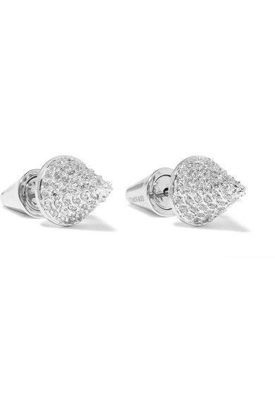 Eddie Borgo   Silver-plated cubic zirconia earrings   NET-A-PORTER.COM