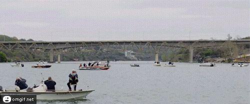 Bridge being demolished. Awesome!