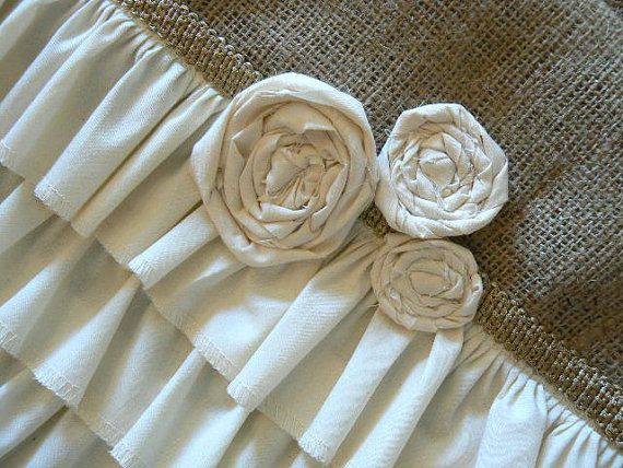 Cottage Chic Burlap Ruffled Table Runner With By ShabbieChicHome, $49.00 ·  Sewing TablePlace MatsCottage ...