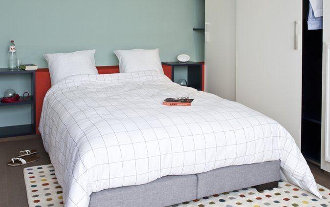 Frisse slaapkamer met vrouwelijke toets. BT12-35 pixie blue #mint