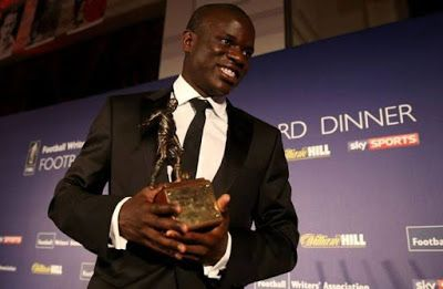 N'Golo Kante has been voted Chelsea Players' Player of the Year at the club's end-of-season awards dinner, while Eden Hazard was named t...