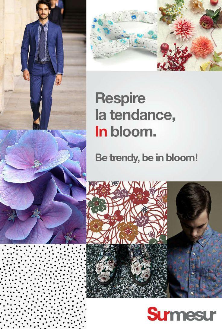 In Bloom : Pour les saisons chaudes, les fleurs n'auront jamais été autant présentes. De l'imprimé hawain (et oui…) aux fines fleurs, ces motifs sauront s'adapter à vos plus beaux costumes. -- In Bloom : As seen in Italian spring shows, flowers have never been as present. From fine flowers to hawaiin style, these patterns are adaptable to your classic suit.  Visit: surmesur.com #Spring #Summer #2014 #SS14 #Trends #Fashion #menswear #men #InBloom