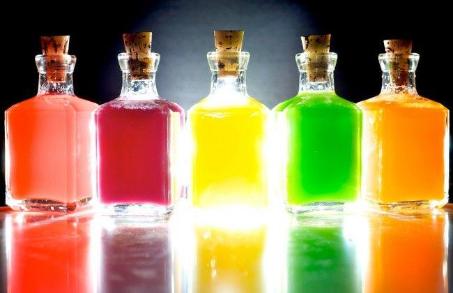 Gekleurde Skittles wodka