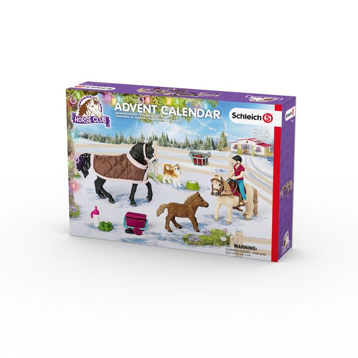 Schleich Horse Club Advent Calendar 2017 Toy Figure. 25 doors, 1 for each day of Advent. Collect the fun accessories and figures from each door. Encourages family fun.