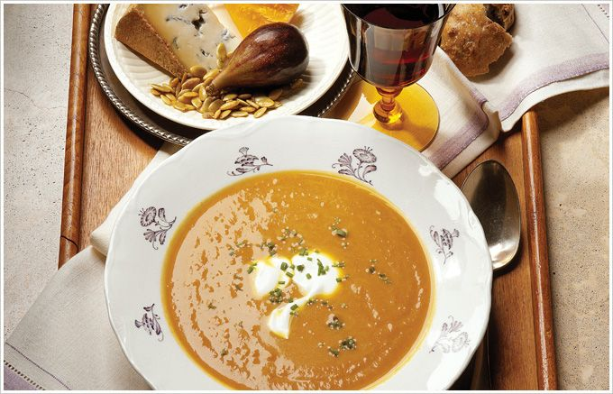 Spiced Pumpkin Soup with Chamomile recipe