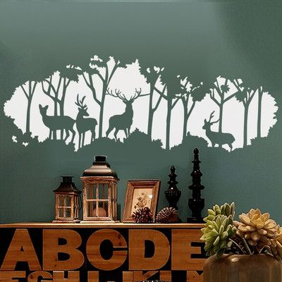 Deer In The Forest Wall Decals More