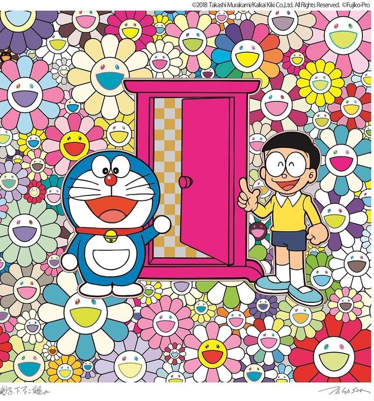 Fujiko F Fujio x Murakami Takashi murakami art, Takashi