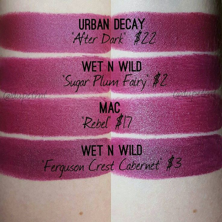 """I love the formula of @urbandecaycosmetics Matte Revolution lipsticks (and you can probably from the photos alone that it applies the best), but I was super underwhelmed with the color selection. They are all pretty dupe-able! Milani """"Sangria"""" would also be a good dupe for these, but I don't have that one on hand."""