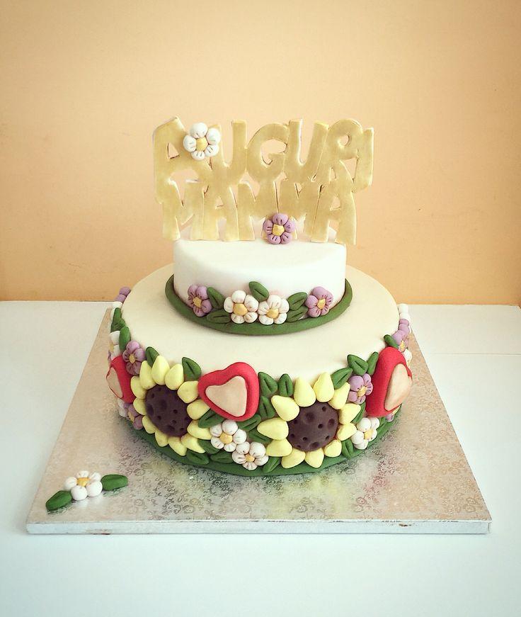 #cake #cakedesign #thun #mamma #social #colors #flowers #thunCake #happyMotherDay #mom #food #love #pics #trend