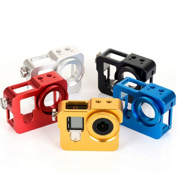 >> Click to Buy << Gopro Accessories Aluminum Dog Cage,Gopro case,Camera Protective Frame,Housing Shell For Gopro Hero 4 3 3+ Camera Mounting #Affiliate