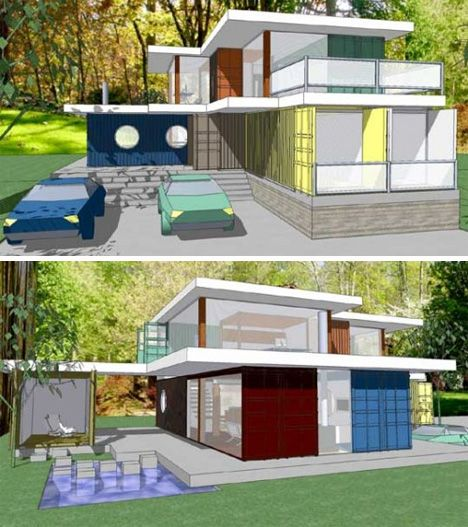 Modular Converted Container Or Park With Shipping Container Home Floor
