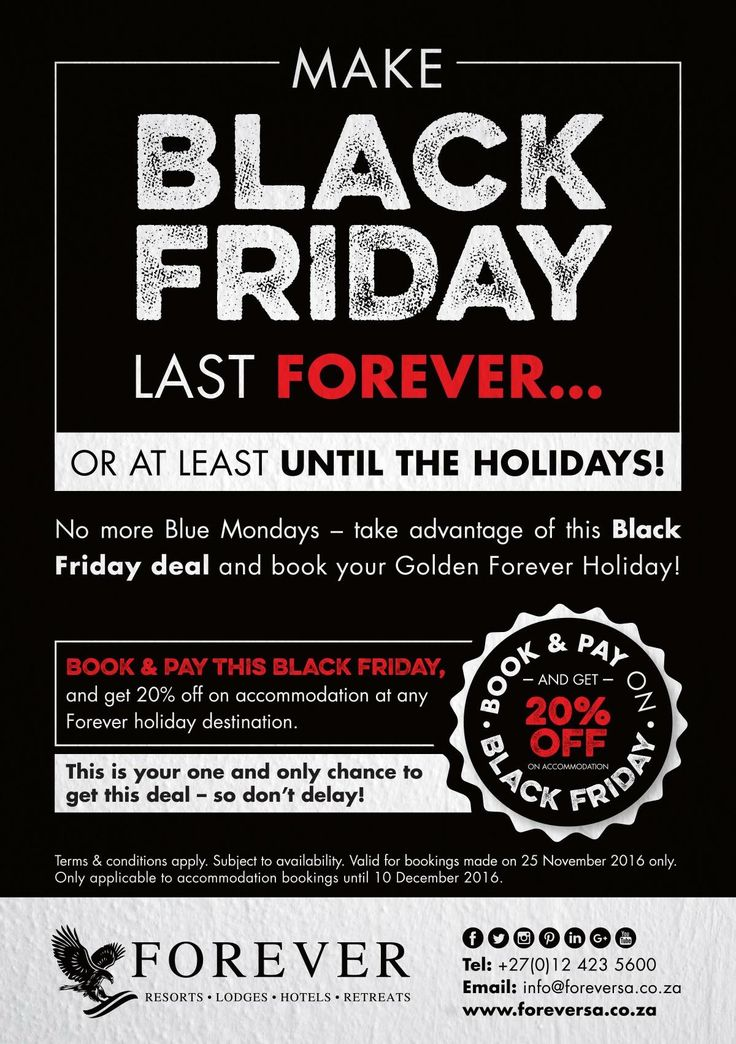 Make Black Friday last Forever with Forever Resorts!!! #blackfriday #specialdiscount #blackfriday2016 #blackfridaydeal #blackfridayspecial #blackfridaymadness