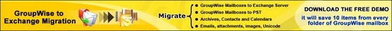 Kernel for Novell GroupWise to Exchange - Create Batch File with Save in Exchange Option