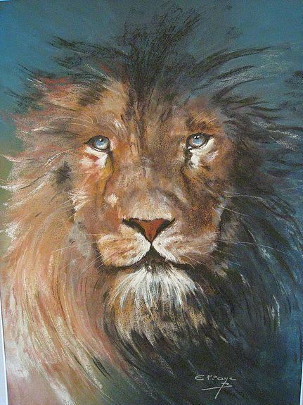 eliane bordarier pastel sec animaux le roi de la jungle pastels pinterest animaux. Black Bedroom Furniture Sets. Home Design Ideas