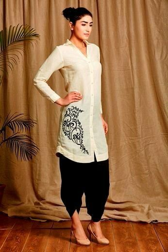 Like that simple motif on the kurti.