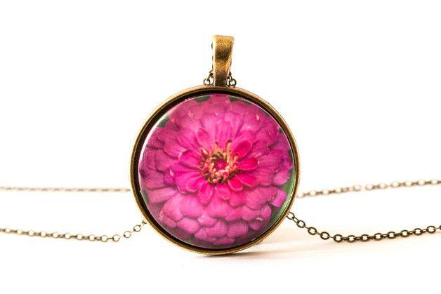 Naszyjnik z ogrodowym kwiatem / Garden Flower Necklace - Art-Of-Nature
