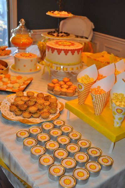 You Are My Sunshine Party Orange And Yellow Food