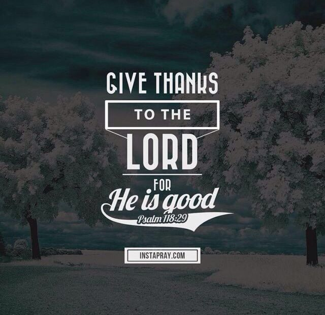 Thank you Lord for everything