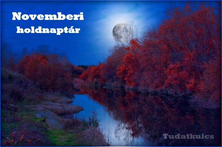 """ITT AZ ÚJ, NOVEMBERI HOLDNAPTÁR! Kattints ide -> http://tudatkulcs.hu/novemberi-holdnapt és tervezd meg teendőidet a Hold segítségével! Nézd meg a novemberi holdfázisokat, a Hold haladását az állatövi jegyekben. A honlapon a hasznos hold tanácsok menüben minden nap részletes elemzést is olvashatsz az adott nap hatásairól! """"Az okos ember az égi hatásokkal párhuzamban tevékenykedik, mint ahogyan a jó földműves is a természettel összhangban végzi a szántást-vetést és rendrakást."""" - Ptolemaiosz"""