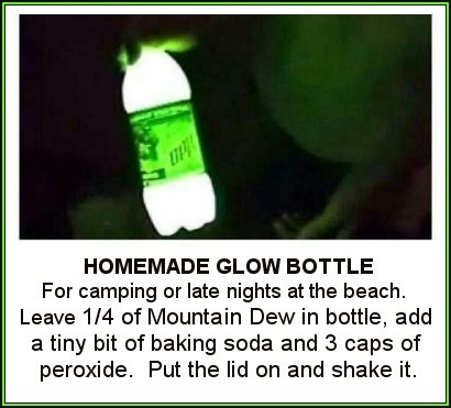 Homemade Glow Bottle