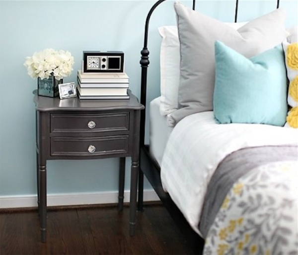 Vintage Shelf On Collection of Beautiful Blue And Gray Bedrooms