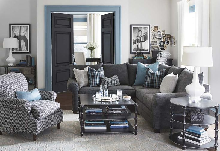 incredible blue grey living room | 139 best images about Living Room Furniture on Pinterest ...