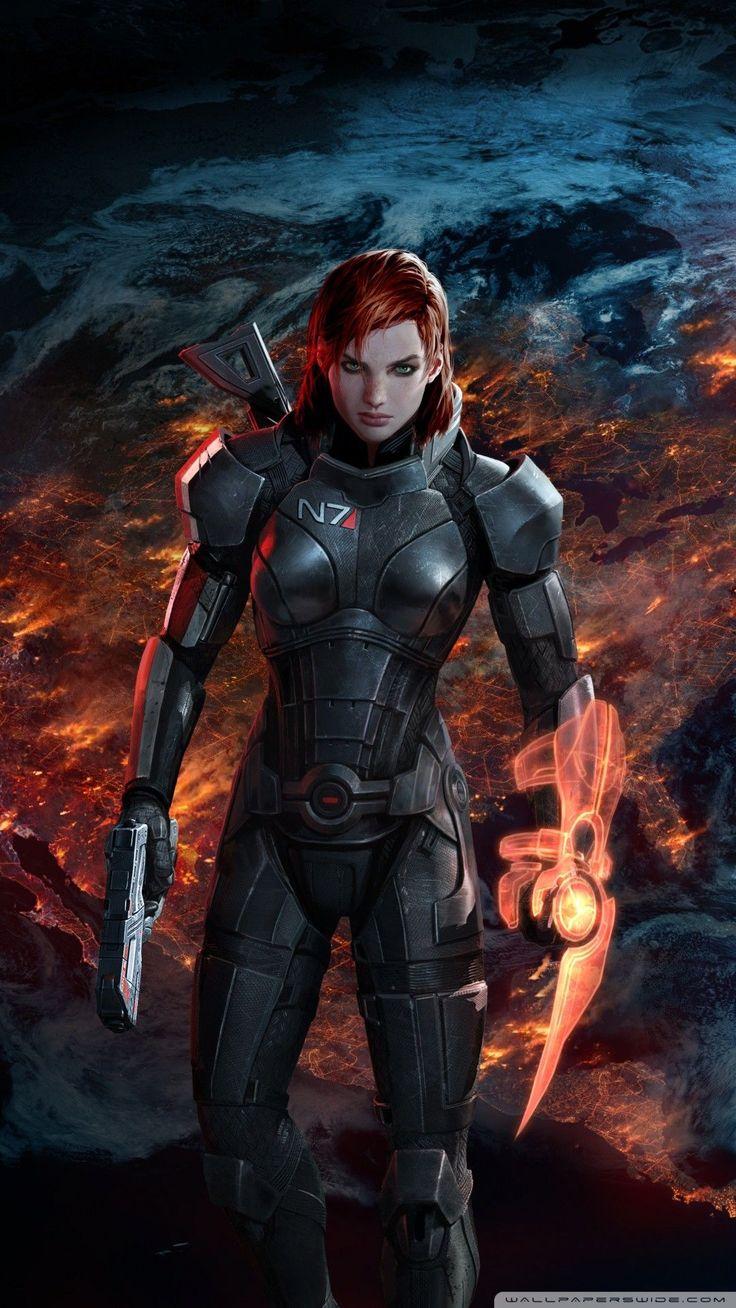 Free Mass Effect 3 FemShep phone wallpaper by paul63 in