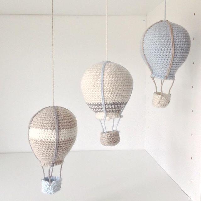 Lidt flere luftballoner hæklet i mayflower Cotton 8/4 #hækle #hæklet #hækling…