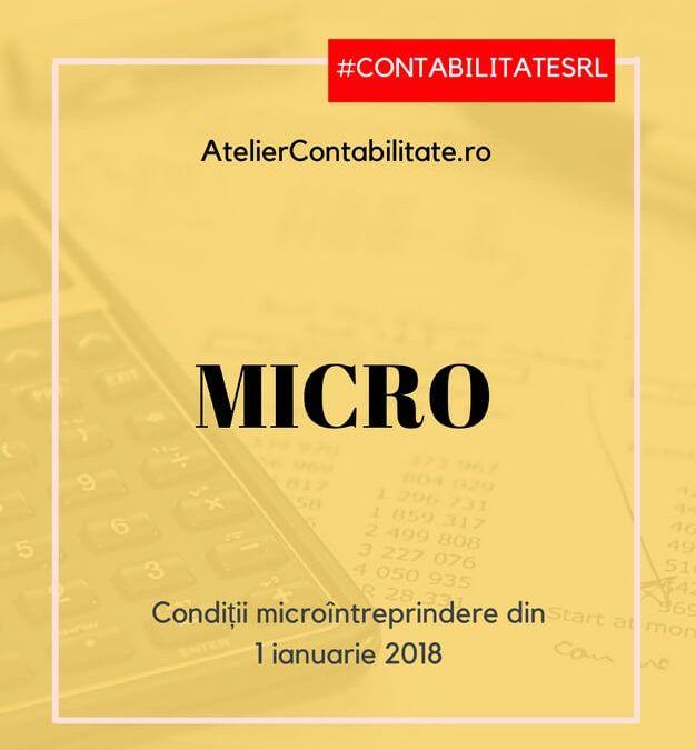 Microîntreprindere de la 1 ianuarie 2018 – prevederi aflate în proiect