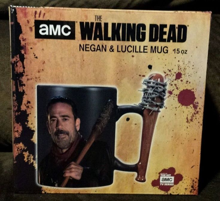 Negan Lucille Bat Mug The Walking Dead AMC Jeffrey Dean Morgan 15 oz NEW  #RabbitTanaka