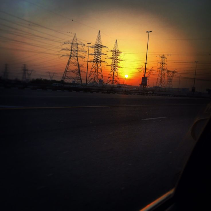 Sunrise in Dubai..