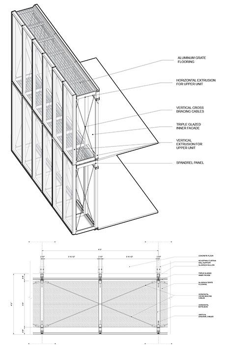Double Curtain Wall : Double skin curtain wall detail glif