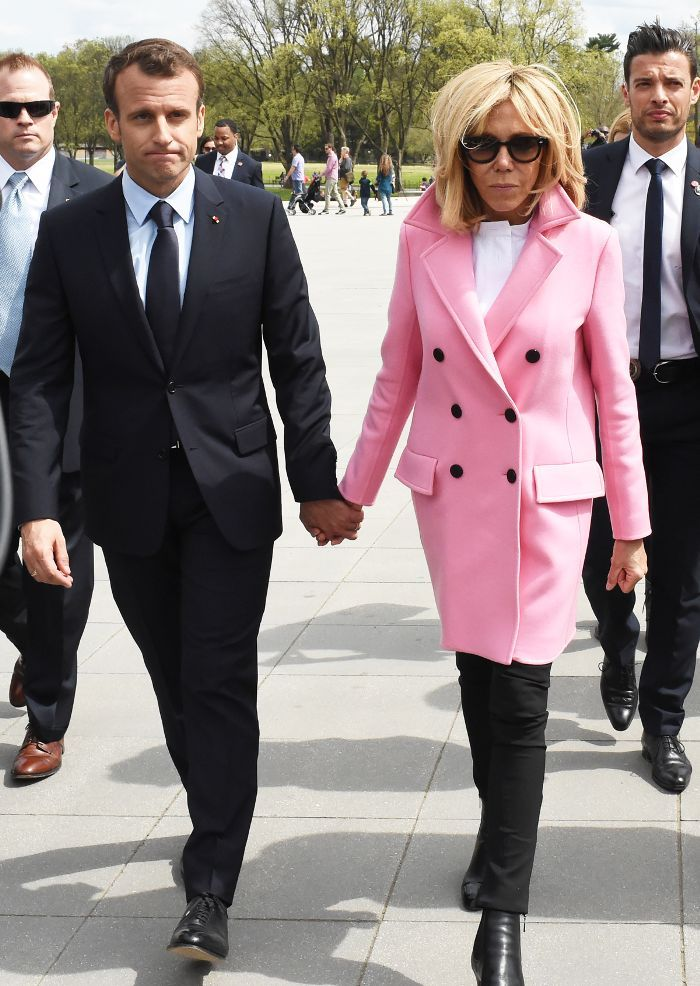 French First Lady Brigitte Macron Is A Grecian Dream At The White House French First Lady Fashion First Lady