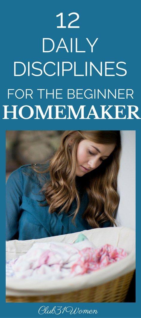 Homemaking101 - 12 Daily Disciplines for the Beginner Homemaker