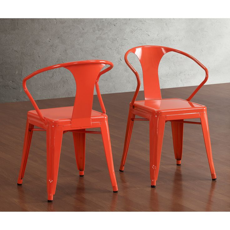 180 Tabouret Tangerine Stacking Chairs (Set Of 4) | Overstock.com
