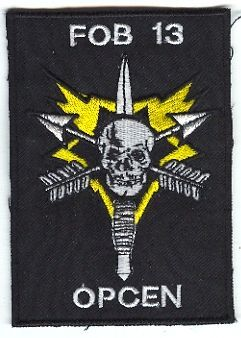 1st Special Forces Group Pocket Patches Forward Operating Base 13 Operations Center C Company, 1st Battalion