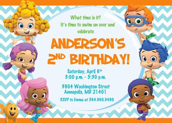 107 Best Images About Bubble Guppies Birthday Party On Pinterest Bubble Guppies Cupcakes