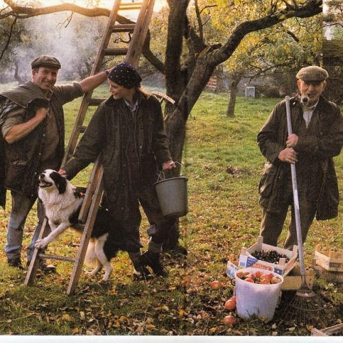 "blackaristo: "" Another great ad from @Barbour 1994. #ApplePickingSeason """