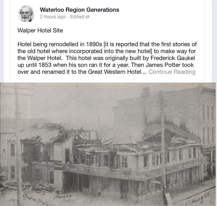 Walter hotel in Kitchener